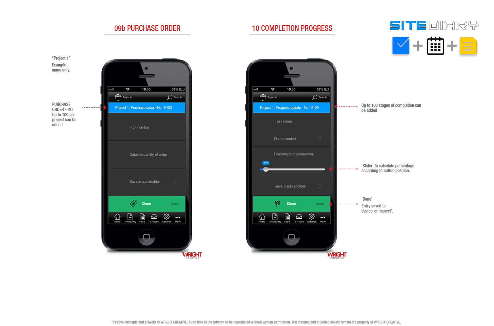 Sitediary Mobile App © Stephen Wright