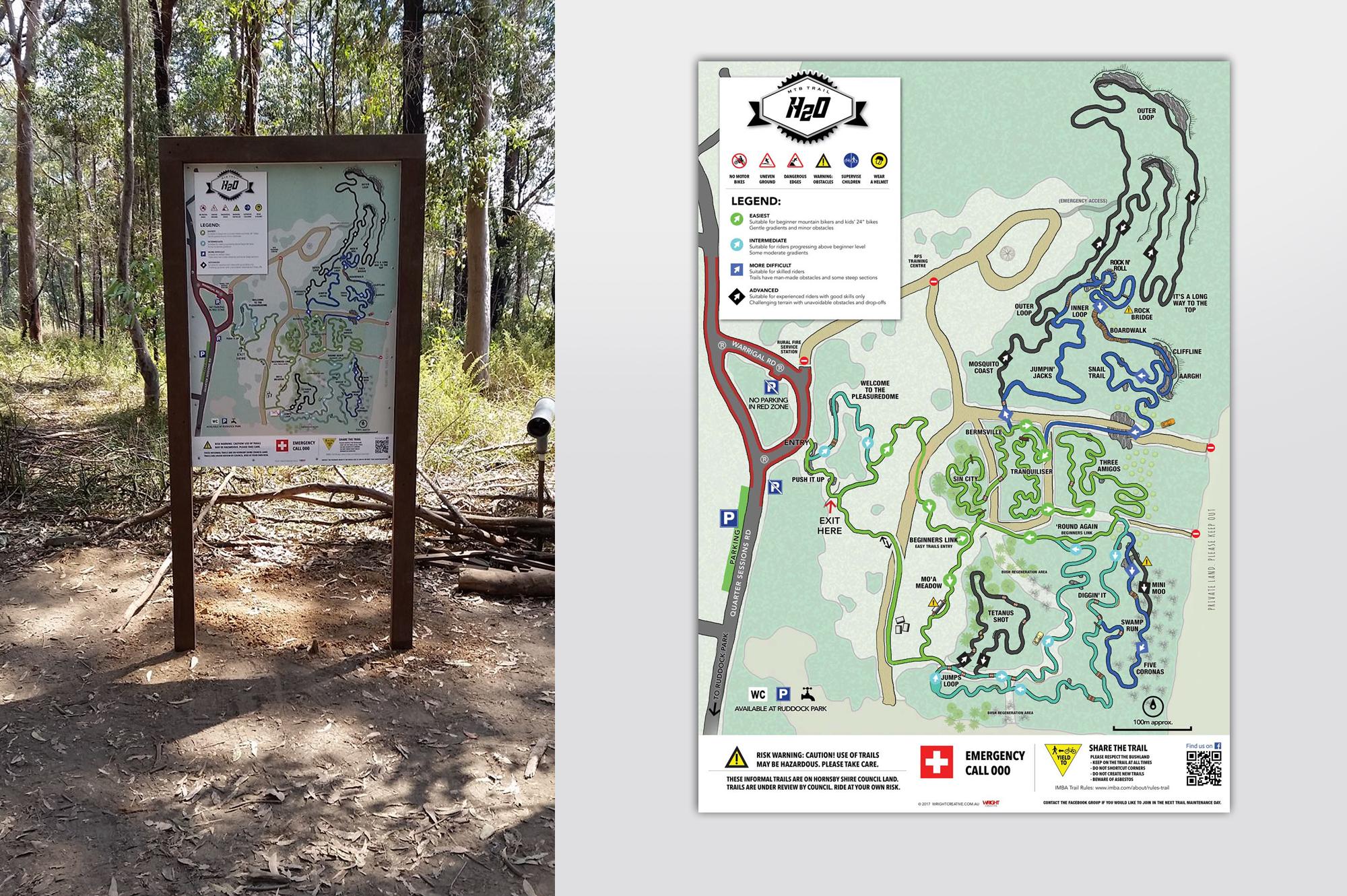 H2o Westleigh Mountain Bike Trails near Hornsby