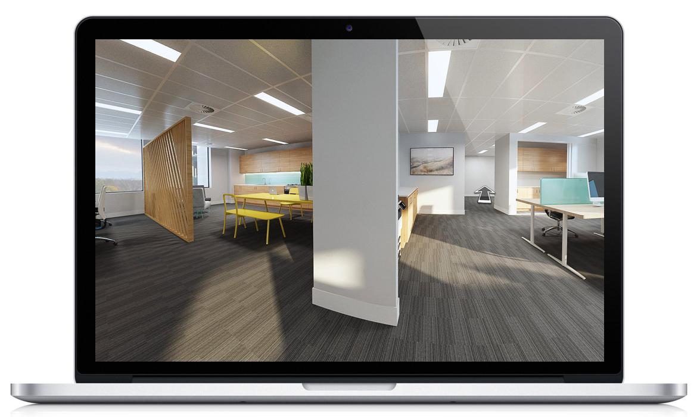 Office interior and kitchen Virtual Tour Allara Street